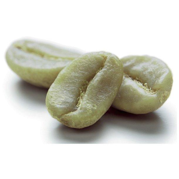 Smagspakke med grønne kaffebønner