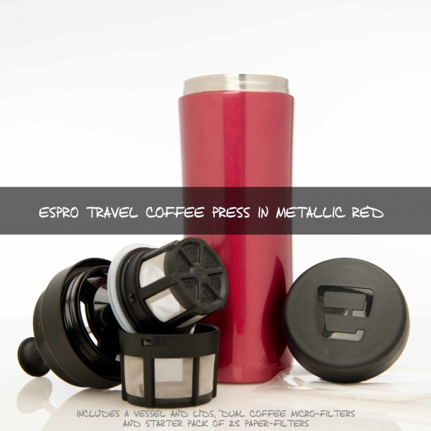 Espro Coffee Travel Press (metal rød)
