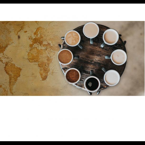 Smagspakke med 6x 500 gram grønne kaffebønner